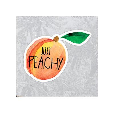Just Peachy Sticker ~ Water Bottle ~ Laptop ~ Tumbler ~ Vinyl Peach Decal