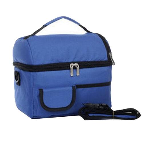 8L Mini Kühltasche Doppeldecker Picknick Tragbar Lunchtasche Mit Tragegriff Neu