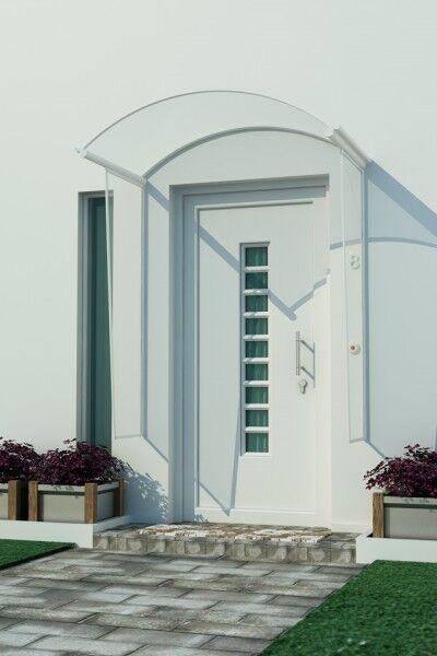 Vordach ANGEL 1,50x1,20m mit 2x Seitenschutz Haustürdach Türdach Überdachung