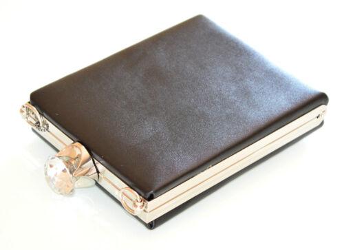 cristal de Bolsa Bolso embrague de Bolso embrague F10 negro de mano Bolso de mujer de plata mano de de Bolso WZRBwqxz1R