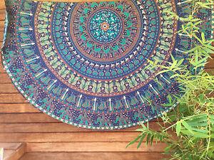 Tapestry-Wall-Hanging-Beach-Indian-Round-Mandala-Throw-Yoga-Mat-Boho-Table-Mat