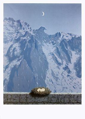"""RENE MAGRITTE Le Seducteur 19.75/"""" x 27.5/"""" Poster 2009 Surrealism Blue"""