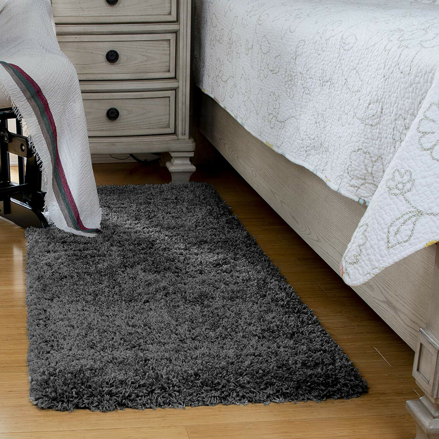 Fluffy Gy Bedroom Rugs Runners