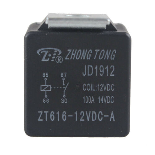 5Pcs Car Auto Automotive DC 12V 80A 80 AMP SPST Relay 4 Pin 4P Heavy Duty