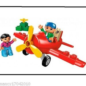 Lego-Duplo-5592-Flugzeug-Aeroplane-Flieger-My-First-Plane-Propellerflugzeug
