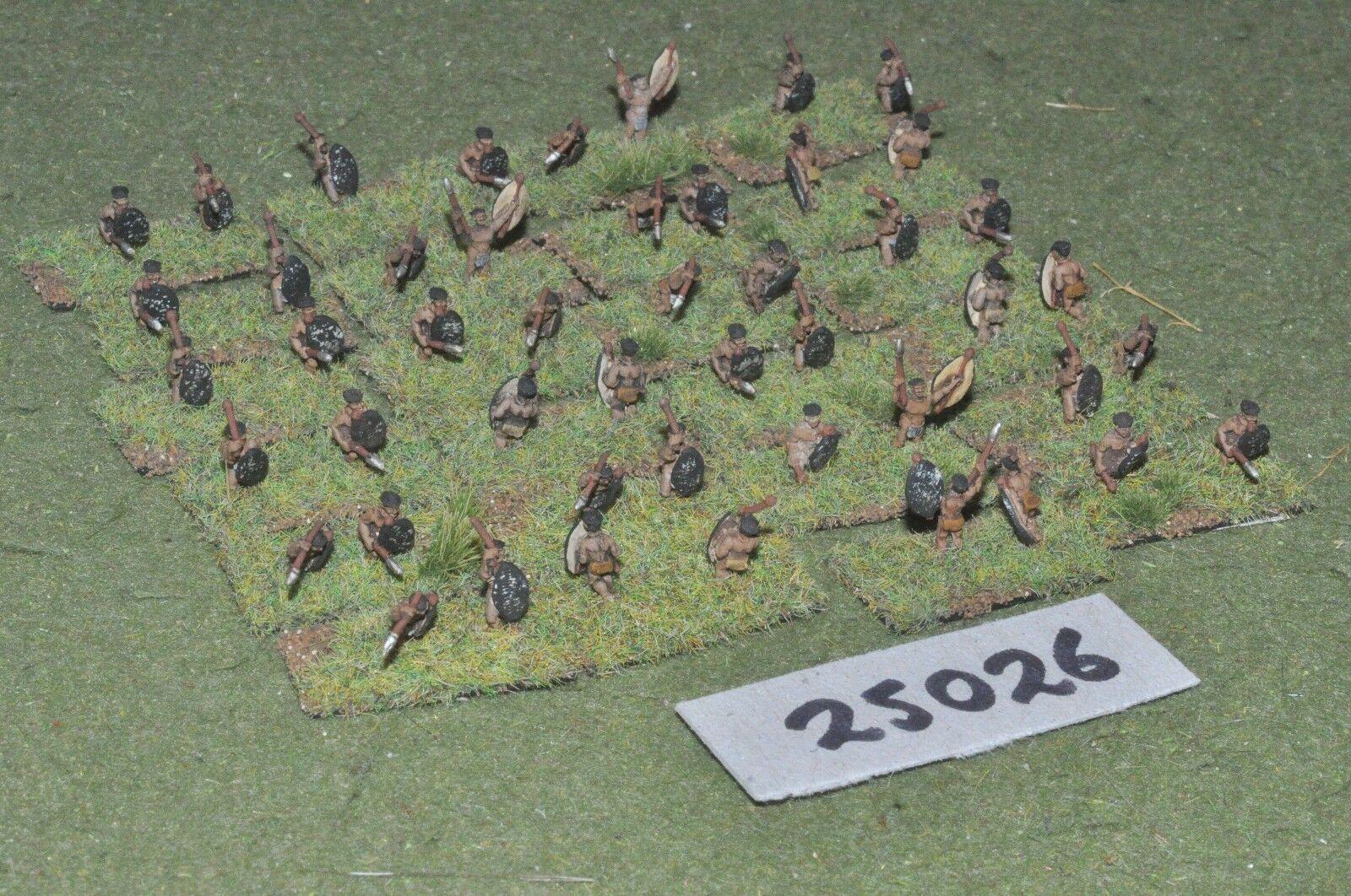 10mm colonial   zulu - warriors 48 figures - inf (25026)