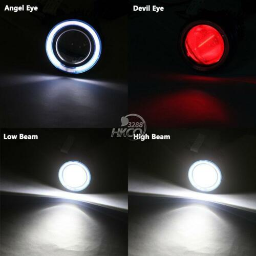 White Halo Angel Red Demon Eye Headlight For Kawasaki Ninja ZX-6R 2005 2006