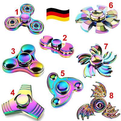 fidget SPINNER mit GLITZER viele Farben gegen Stress /& Konzentration Handkreisel