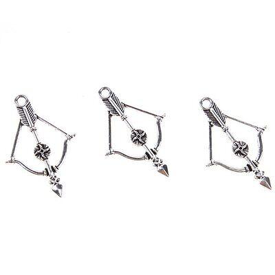 35pcs Fashion Antique Silver Archer Shape Zinc Alloy Charms Pendants Findings D