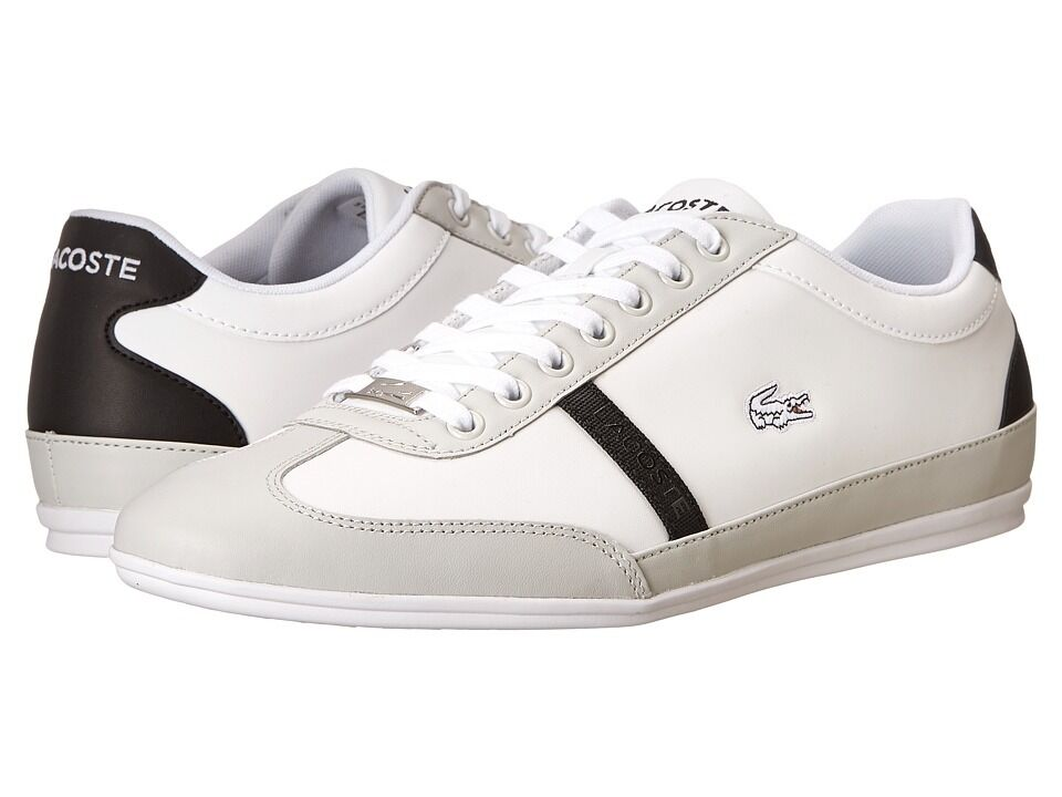 Lacoste Men's  Misano Sport SCY (White Light Grey)  shoes