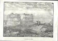 Stampa antica EL JEM THYSDRUS anfiteatro romano Tunisia 1840 Old antique print