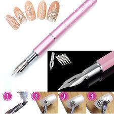Gel Design Painting Pen Nail Art Brush Set For Salon Manicure DIY Tool Kit 5Nibs