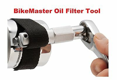 BikeMaster Motorcycle Oil Filter Tool Harley Davidson Cruiser Chopper Bobber