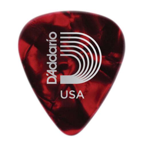 12 plettri D/'Addario Planet Waves chitarra 1.00mm Duri Heavy Rosso Celluloide