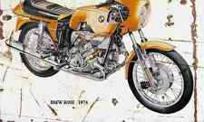 BMW R90S 1974 ghosted Aged Vintage Photo Print A4 Retro poster
