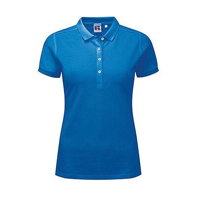 Russell Damen Polo Shirt kurzarm Ladies Stretch Pique XS S M L XL XXL Neuware