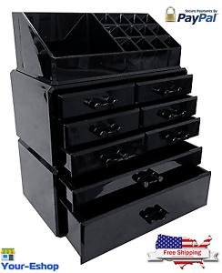 Genial Image Is Loading Black Acrylic Makeup Organizer Drawers Box Make Up