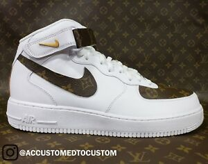Image is loading NIKE-AIR-FORCE-1-MID-MADE-W-GENUINE- 5c2fc6e90e