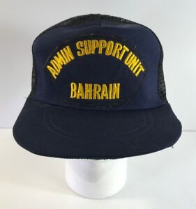 1bc75626 Image is loading Vintage-ADMIN-SUPPORT-UNIT-BAHRAIN-Snapback-Mesh-Hat