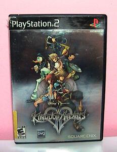 Vintage-PlayStation-2-Kingdom-Hearts-Video-Game-Black-Label-Manual-Case-Art-Mint