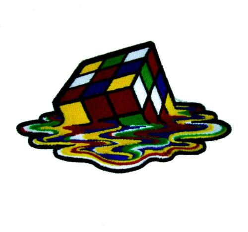 Melting Rubik/'s Cube Patch Iron On Applique Alternative Clothing