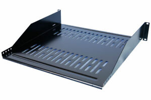 19-034-Vented-Steel-2-Space-2U-Rack-Mount-Cantilever-Network-Shelf-16-034-Deep