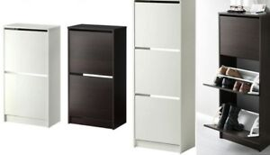 Armadio Nero Ikea : Ikea bissa shoe cabinet or compartments in black brown white