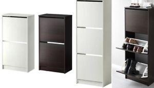 Armadio Nero Ikea : Ikea bissa shoe cabinet 2 or 3 compartments in black brown & white