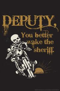 Deputy-You-better-Wake-the-Sheriff-Retro-Art-Poster-12x18-inch