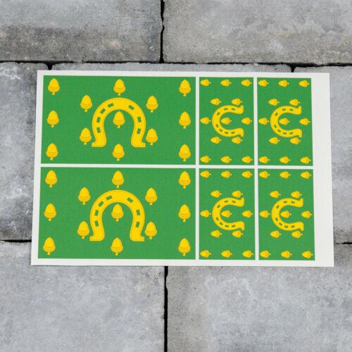 6 x RUTLAND County Drapeau Vinyle Stickers Autocollants Fenêtre Voiture Van-SKU6121
