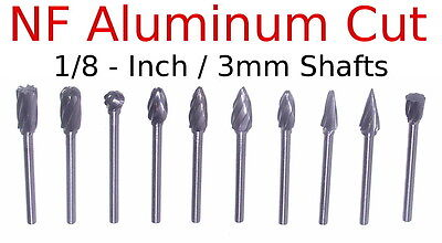 SH-6-NF Aluminum Cut Flame Shape Carbide Burr Rotary File bur die grind