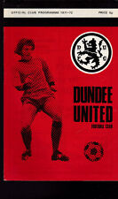 Dundee United Football Club Programme Scottish FA Cup v Aberdeen 1971-72