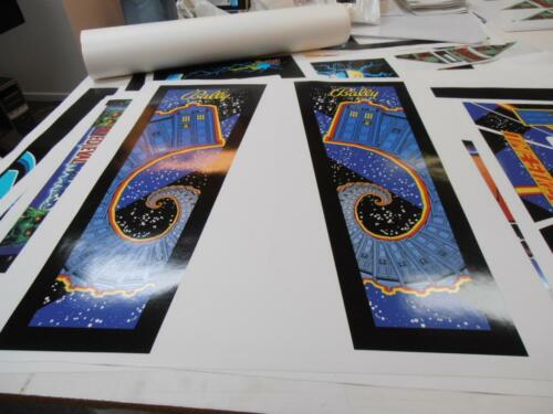 Doctor Who Pinball Coin Door and Headbox Decals Turns Old Into New Mr Pinball