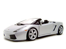 LAMBORGHINI GALLARDO SPYDER SILVER 1/18 DIECAST MODEL CAR BY MAISTO 31136