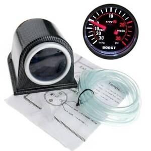 MOTORE-PER-AUTO-52mm-LED-30-PSI-Pressione-Vuoto-Turbo-Boost-PUNTATORE-quadranti-Gauge-Meter