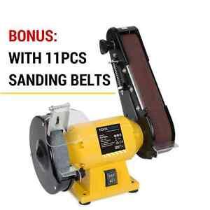 Wonderful Image Is Loading 150mm Bench Grinder Linisher Sanding Grinding Wheel Belt
