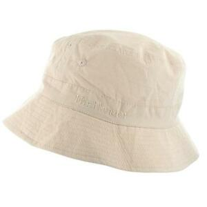 2d6caf0599 CREAM BUCKET HAT COTTON Mens sizes sun cap travel hike seaside ...