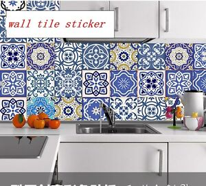 Image Is Loading Mexican Style Wall Tile Sticker Kitchen Bathroom  Decorative