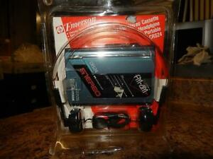 New Vintage Emerson CRS24 AM/FM Stereo Cassette Tape Portable Player Walkman
