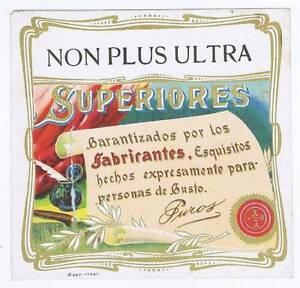 Non Plus Ultra, Original Externe Cigare Boîte Label,typographie J81wcqr9-08000702-382199103
