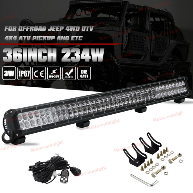 36inch 234w led light bar offroad work driving lamp spot flood 4wd 36 inch cree led light bar wwiring kit for ford chevy gmc toyota off aloadofball Images