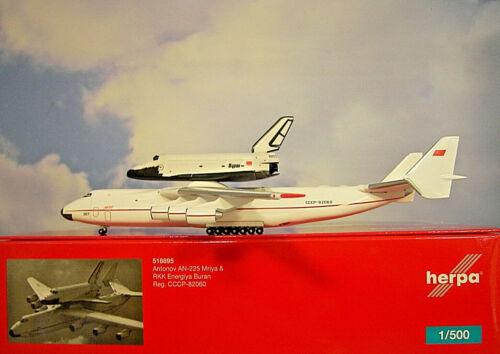 Herpa Wings 1:500 Antonov an-225 Mriya & Buran CCCP - 82060 518895 modellairport 500