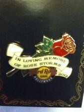 Hard Rock Cafe Pin Hollywood Citywalk Rose Storms Charity Pin 2013