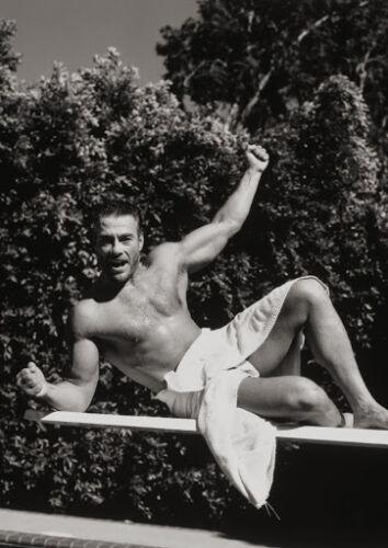 Art print POSTER CANVAS Jean-Claude Van Damme in a Towel