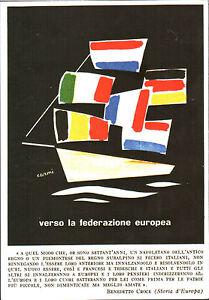 CARTOLINA-D-039-EPOCA-VERSO-LA-FEDERAZIONE-EUROPEA-DISEGNO-di-Carmi-Riprod