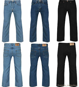 to50 Adulti Mens scuro Azzurro Taglia New Leg Straight Denim Branded 30 Lavoro Boys Fashion Jeans blu nero qgaWSAaw