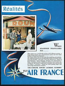 1955-Vintage-Air-France-Airline-French-Chef-Cuisine-Restaurant-Photo-Print-Ad