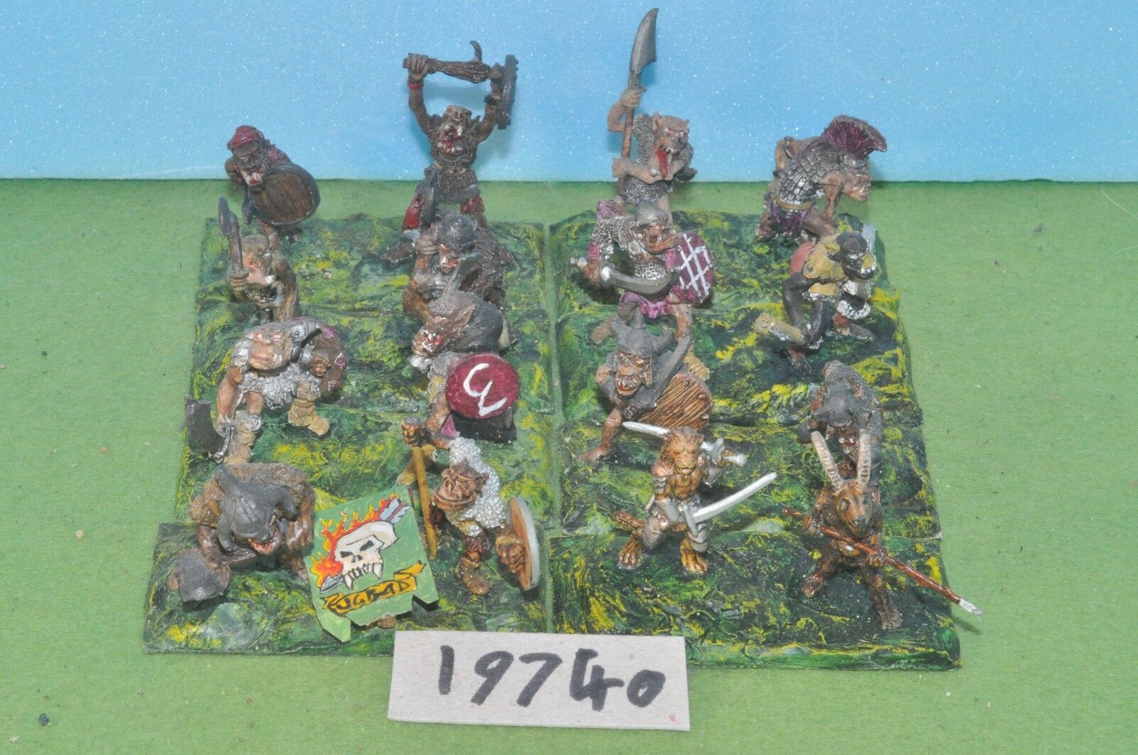 Item fantasy   warhammer - destruction orc boys 16 metal sigmar - (19740)