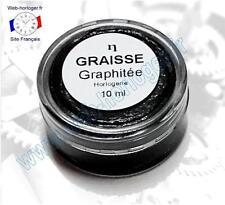 Graisse graphitée pour horloge, pendule 10 ml - Graphite grease for clock