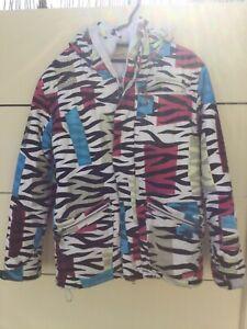 Grenade Fatigue Project Zebra Stripes Multicolour Snowboard Ski Jacket  Size Med